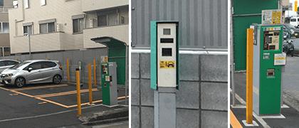 時間貸し駐車場(コインパーキング)の設備 カメラ式コインパーキング